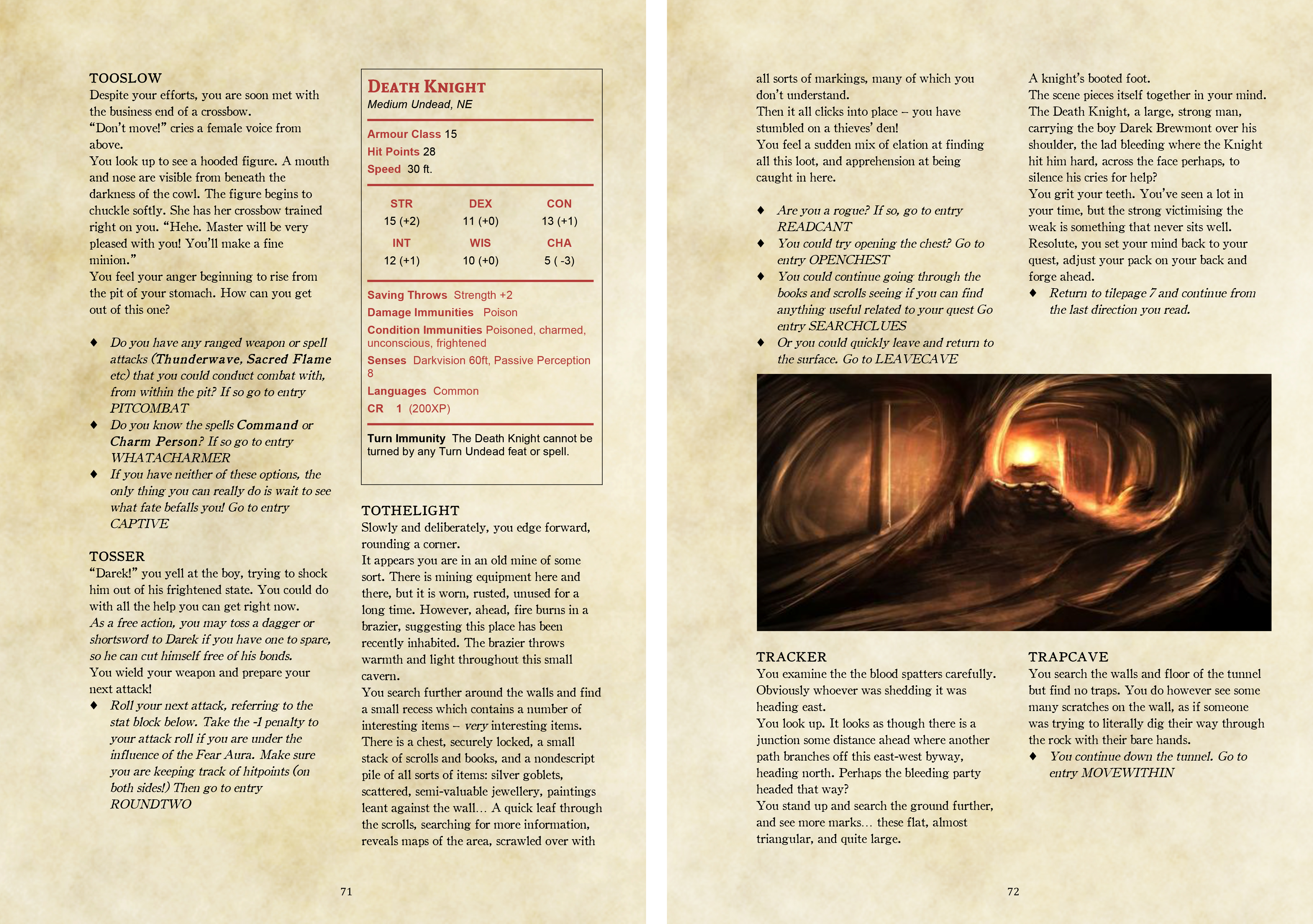 The Death Knight's Squire ~ a 5e solo gamebook – Gamebook News