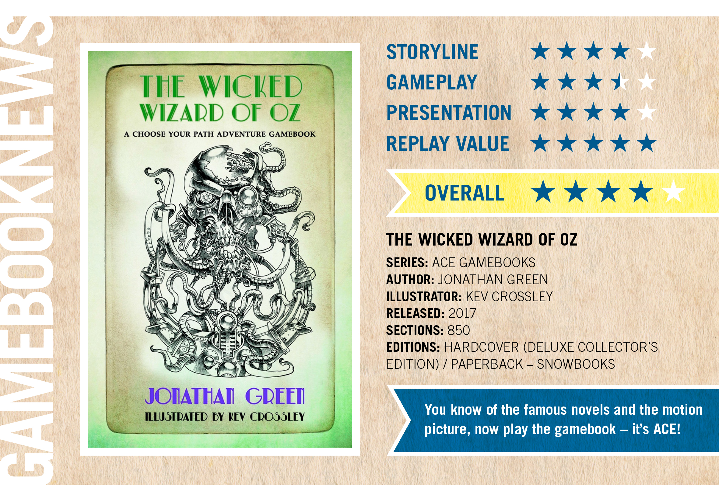 Review the wicked wizard of oz gamebook news review by michael reilly kristyandbryce Gallery