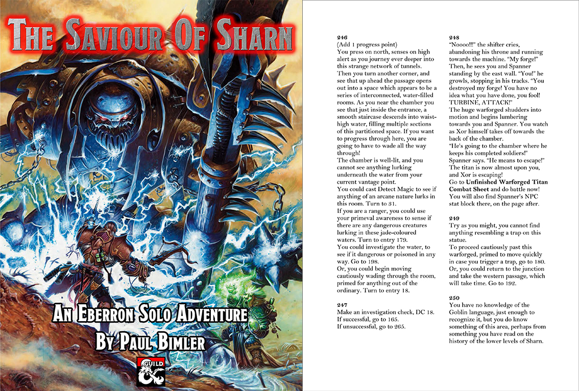 The Saviour of Sharn – An Eberron Solo Adventure – Gamebook News